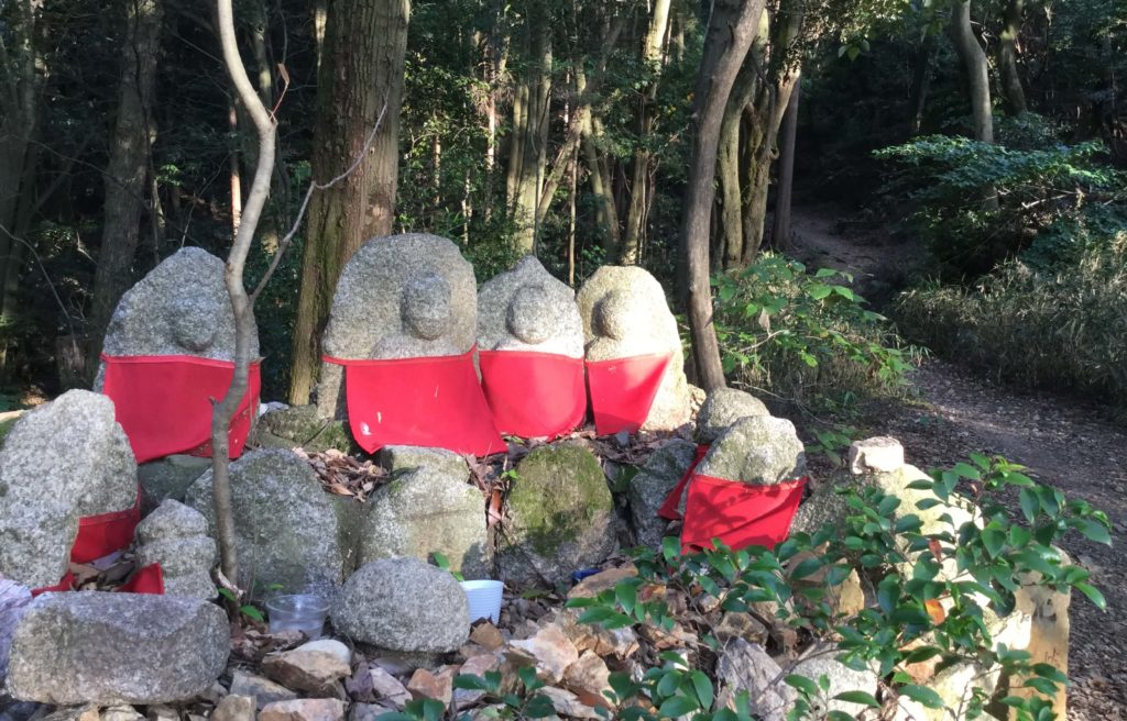 Jizo statues along the Shogunzuka trail