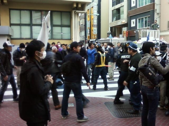 Anti-foreigner demonstration & counter-protest in Ikebukuro, Tokyo