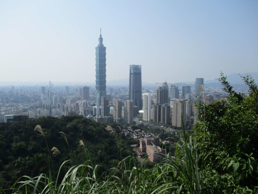 Taipei 101 & Nanshan Plaza seen from the Xiangshan hiking trail