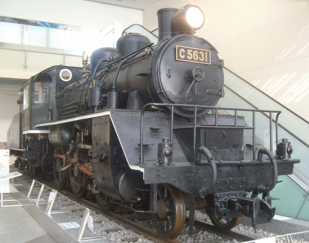 Death Railway locomotive at the Yushukan Museum