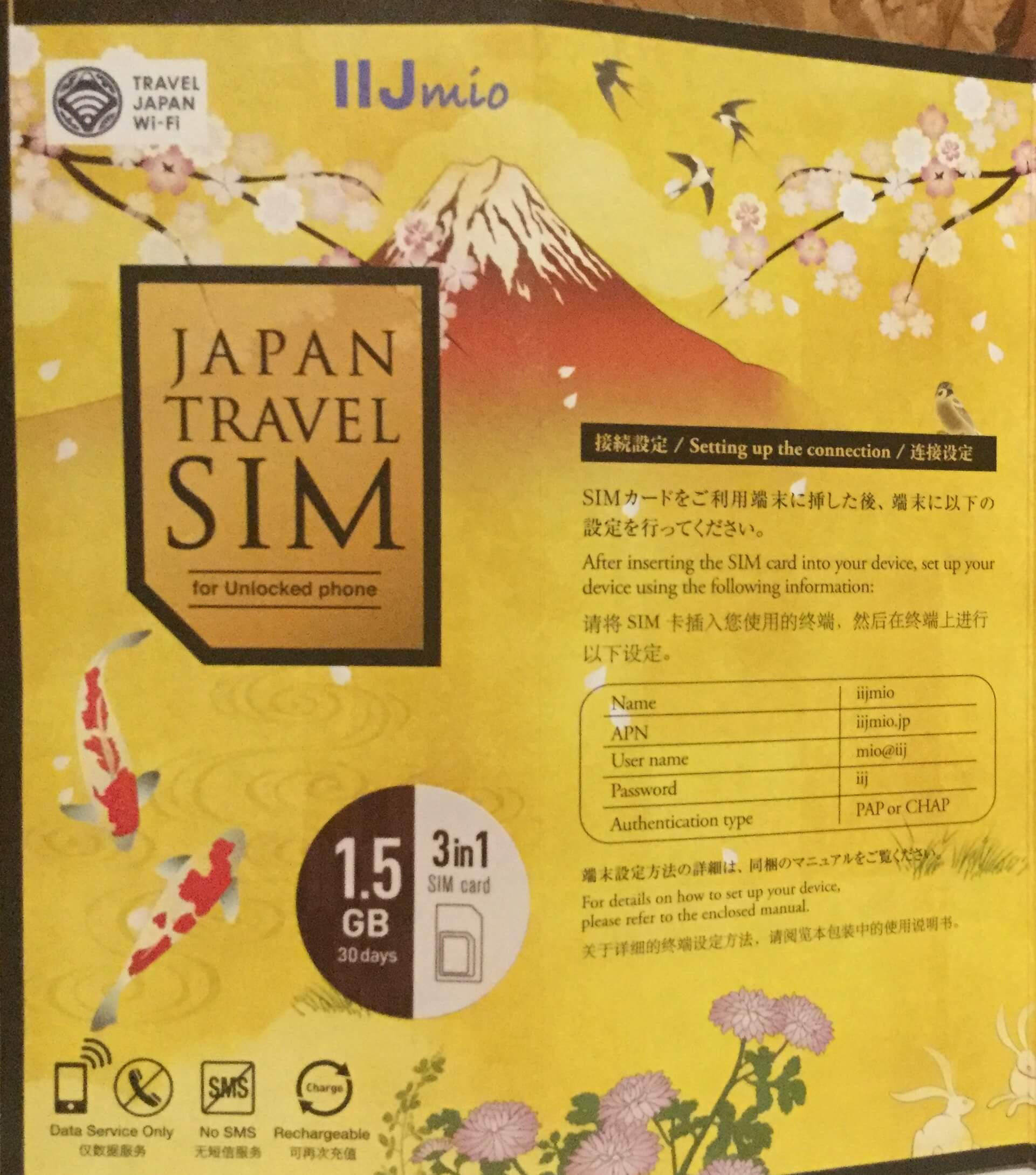The IIJmio SIM card