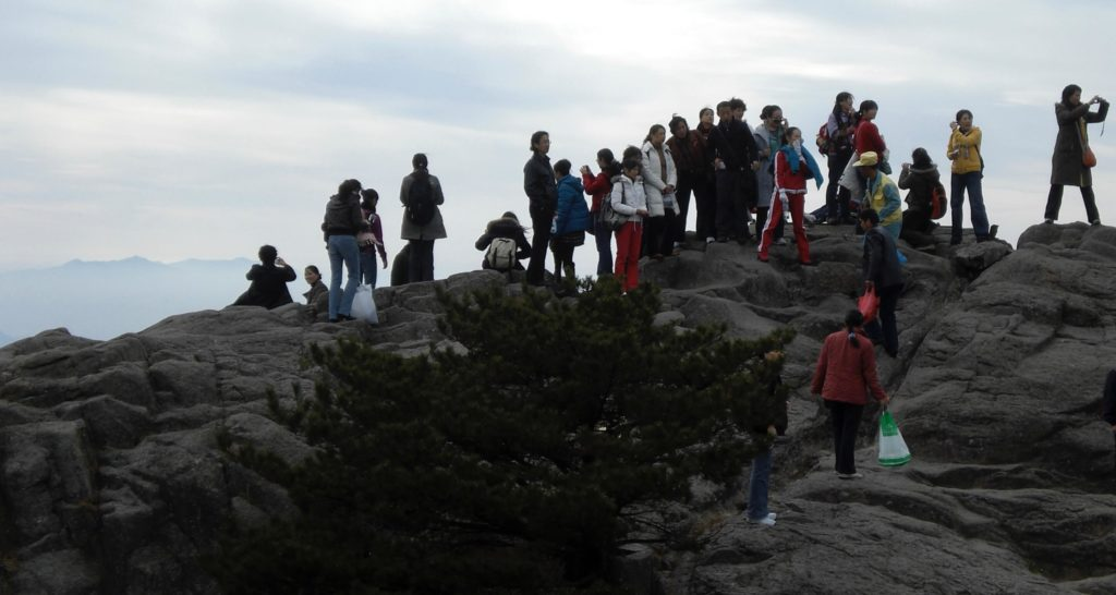 Crowds at Huangshan