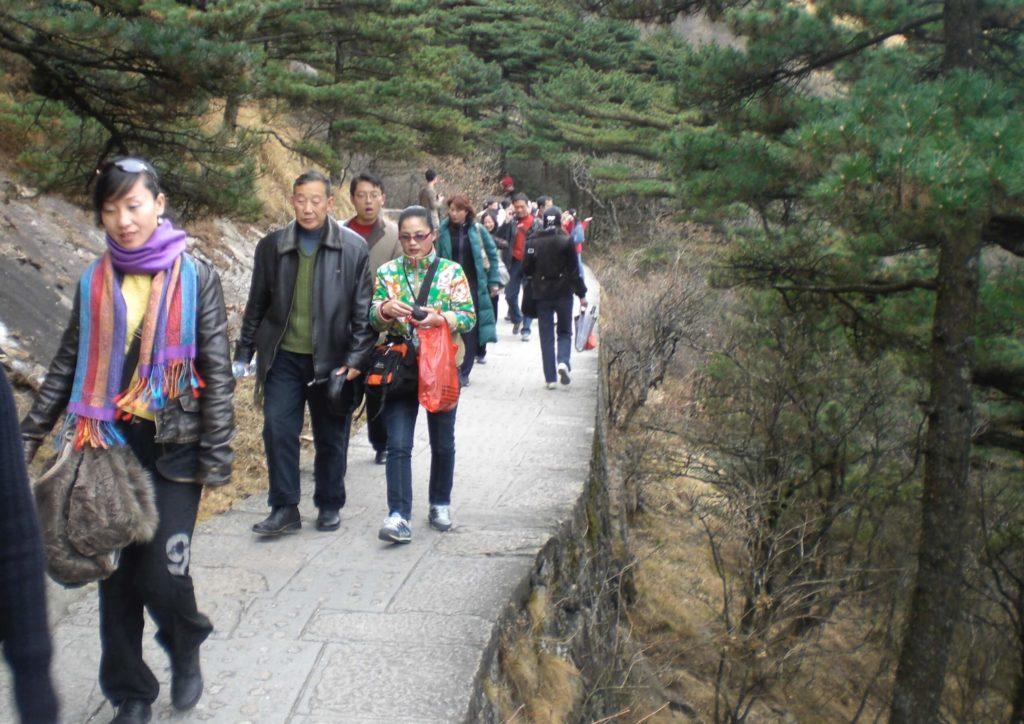 Crowds at Huangshan