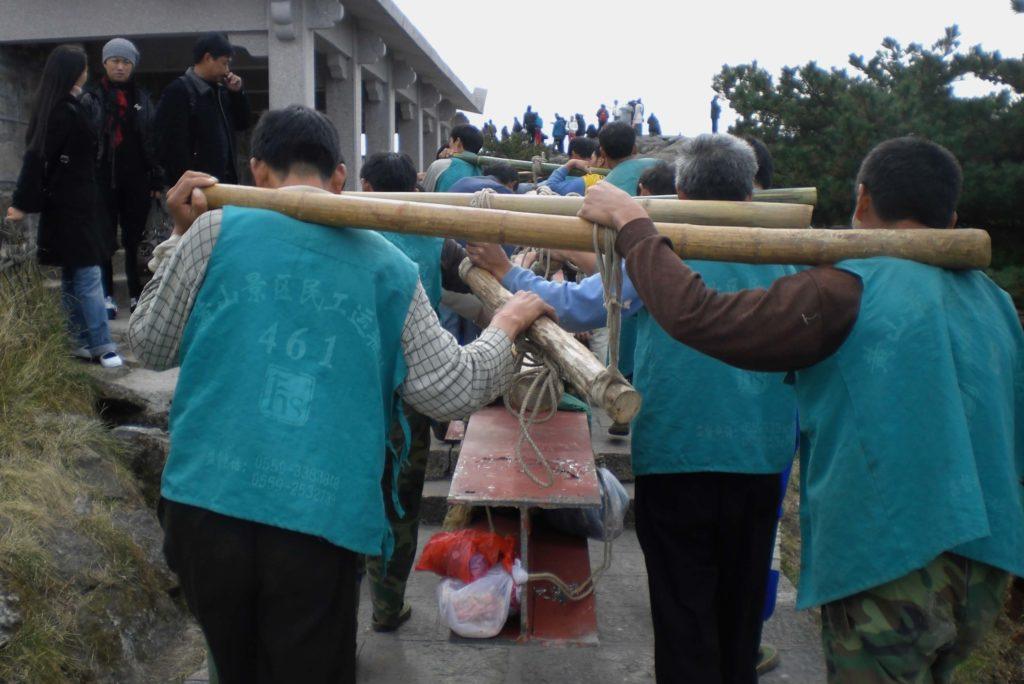 Porters at Huangshan