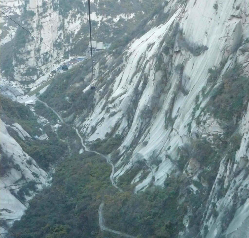 Cable car at Huashan
