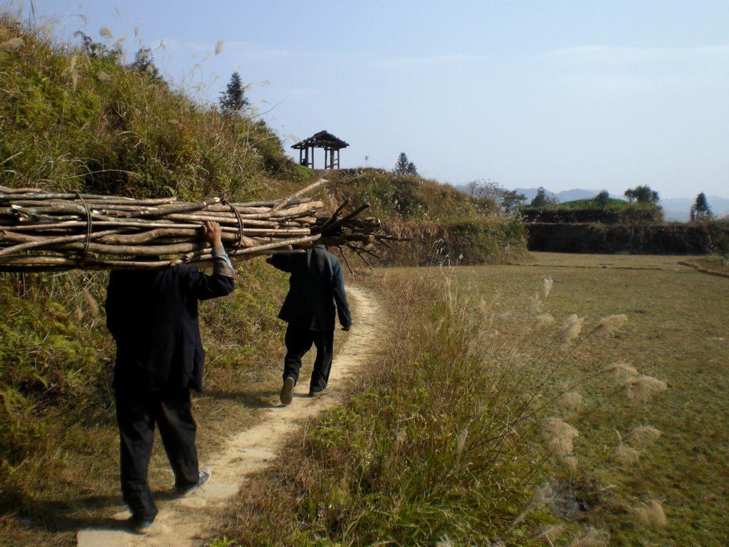 Hiking at Longsheng Rice Terraces