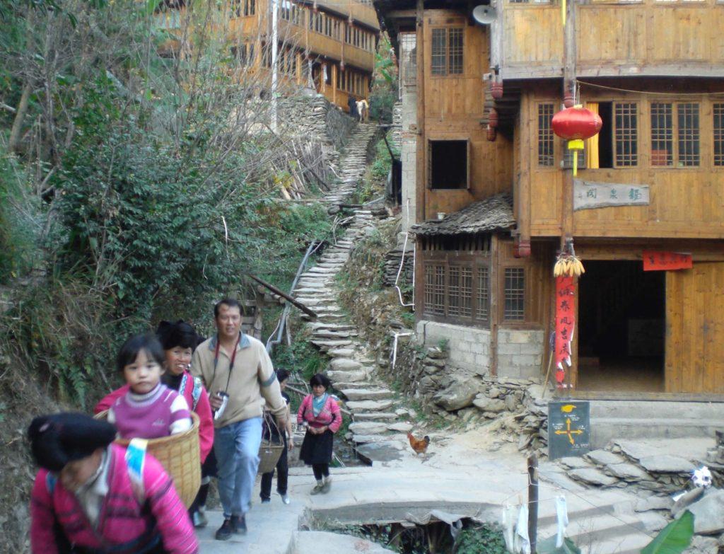 Villagers in traditional wear, Longsheng Rice Terraces