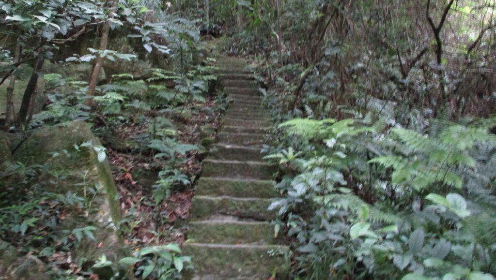 Steps from Yuanjue Waterfall up to Yuanjue Temple, Neihu, Taipei