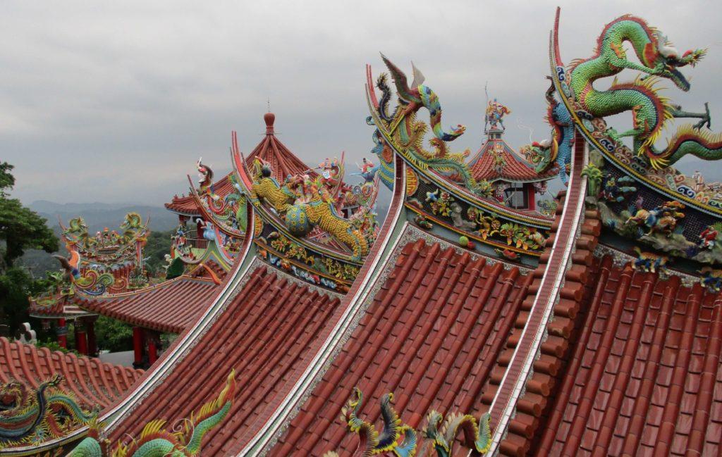 Roof detail, Bishanyan Temple