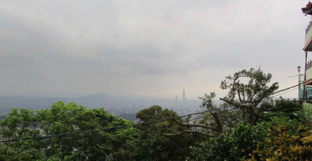 View of Taipei 101 from Bishanyan Temple