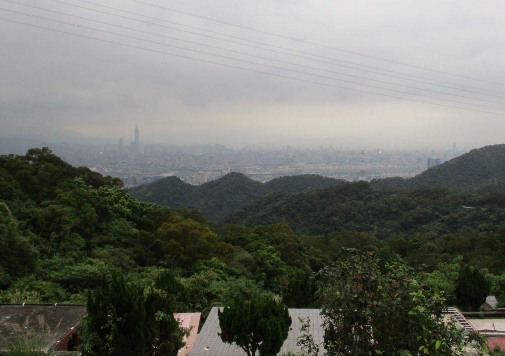 View of Taipei 101 from the cemetery near Zhongyongshan