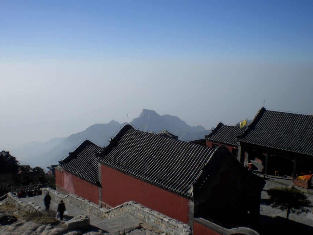 Above the smog at the top of Taishan