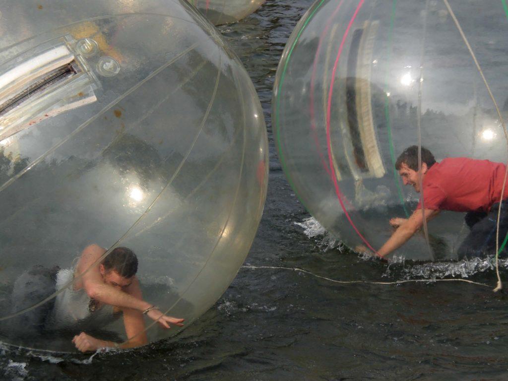Water balling in Yangshuo