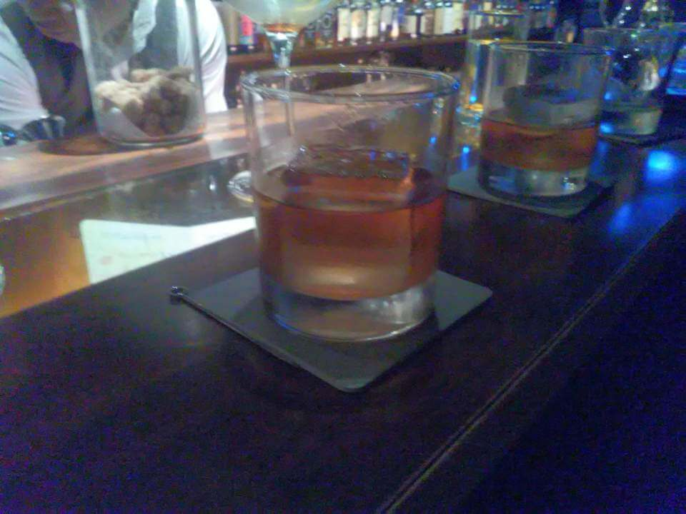 Excellent old fashioned served at a Taipei whisky bar