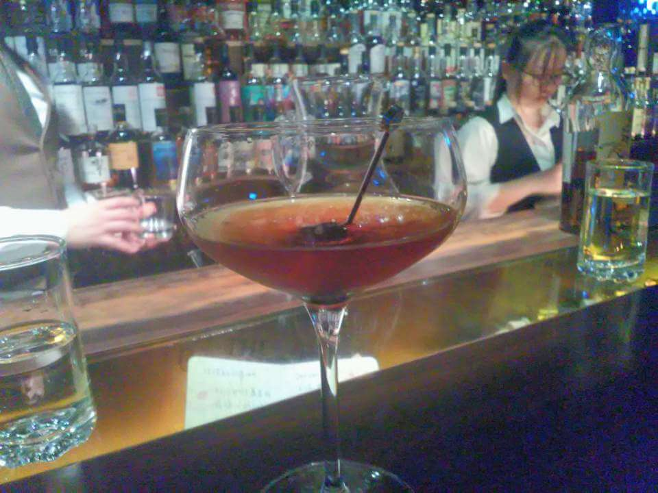 Excellent Rob Roy cocktail served at a Taipei whisky bar