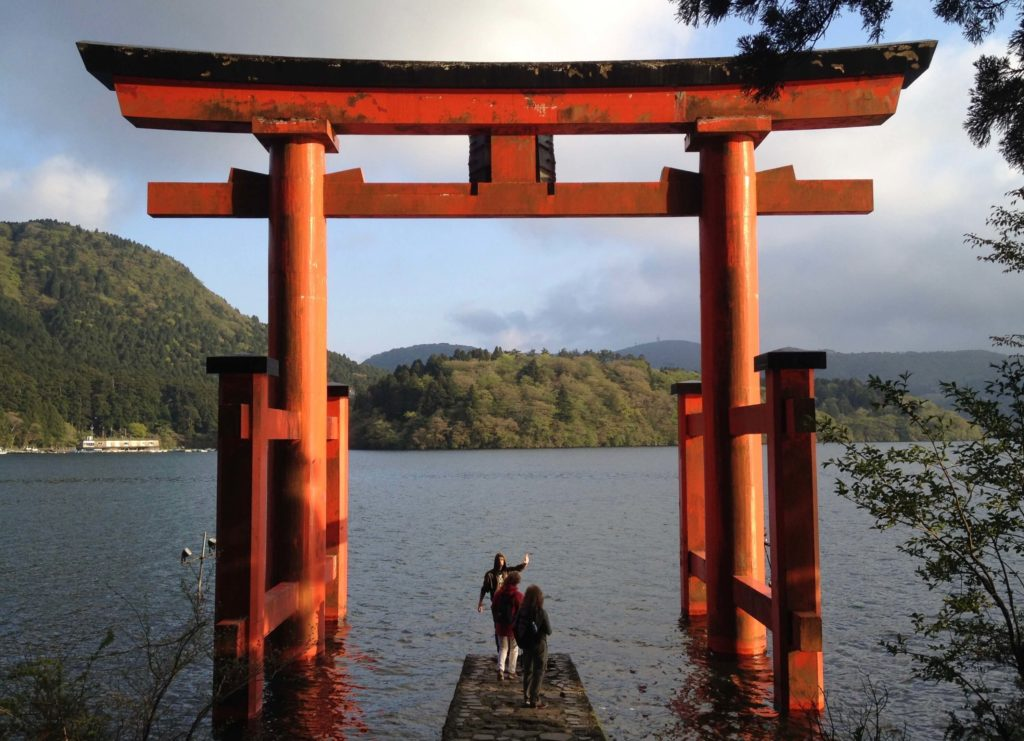 Large torii gate at Lake Ashinoko, Hakone