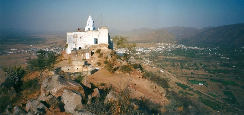 Hilltop temple above Pushkar