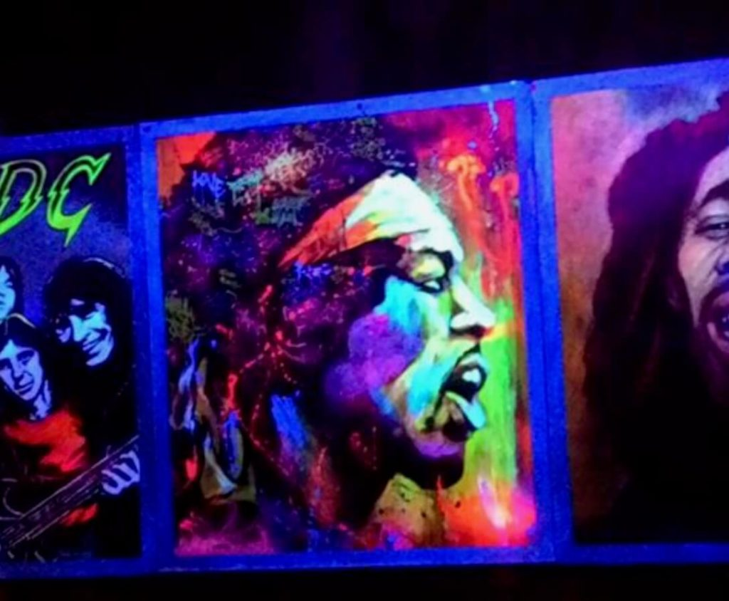 Hendrix mural at Roxy Rocker, Taipei