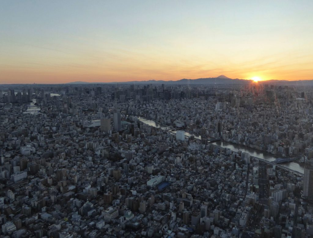 Tokyo and Fuji view from Tokyo Skytree