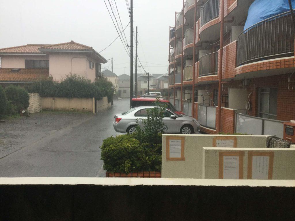 Torrential rain in Tokyo from Typhoon Hagibis