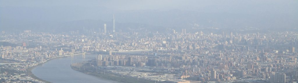 View of Taipei from the top of Guanyinshan