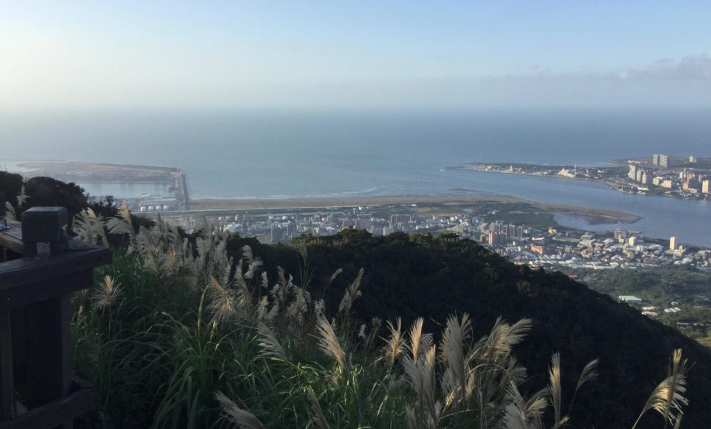 View of Taipei Port from the top of Guanyinshan
