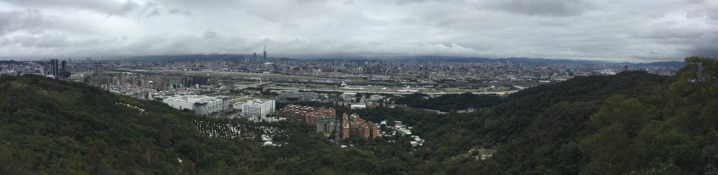 View of Taipei from Laodifang Lookout