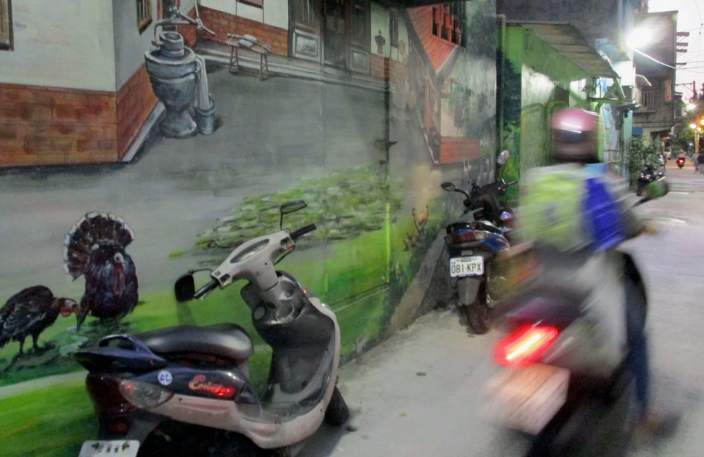 Street art in Sanchong, Taipei