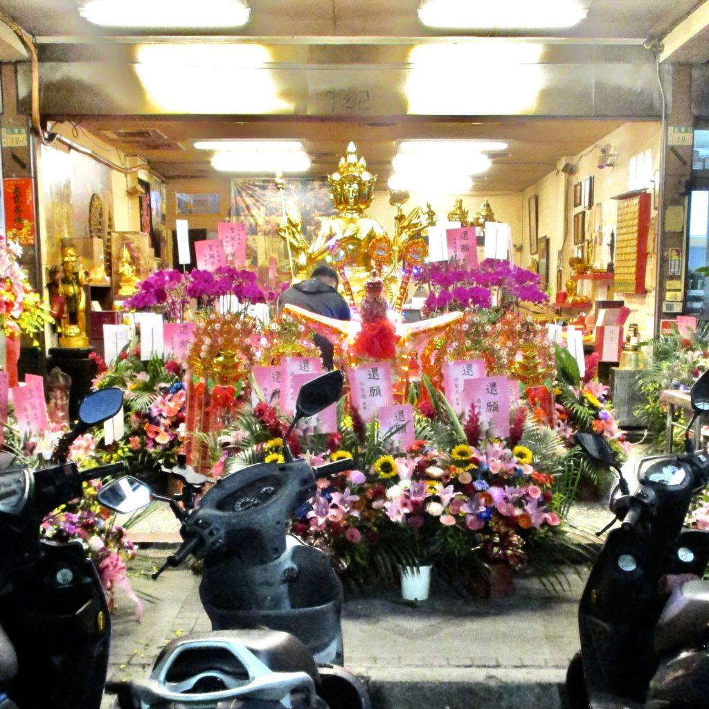 4-faced Buddha statue in Sanchong, Taipei