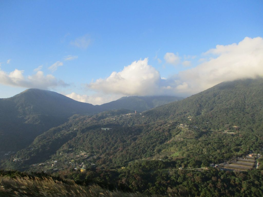 View of Yangmingshan National Park from the top of Shamaoshan
