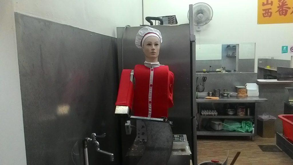 Food robot in Taipei