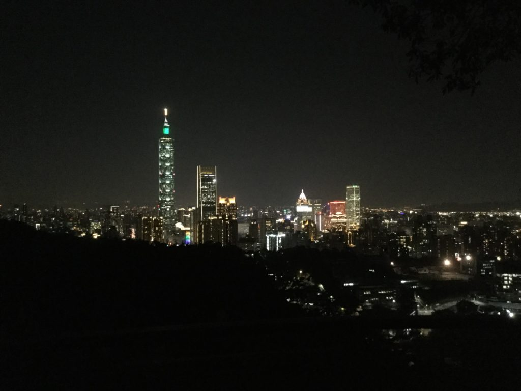 Taipei 101 night view from Leopard Mountain