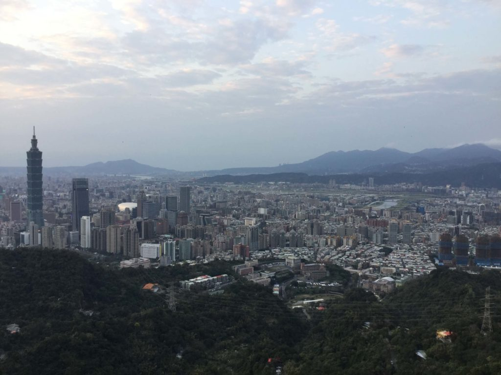The view from Mt Nangang