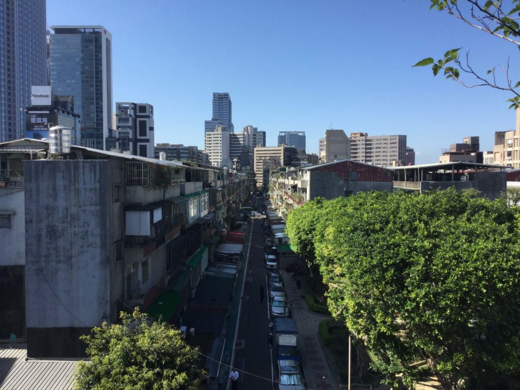 Taipei street view from my balcony
