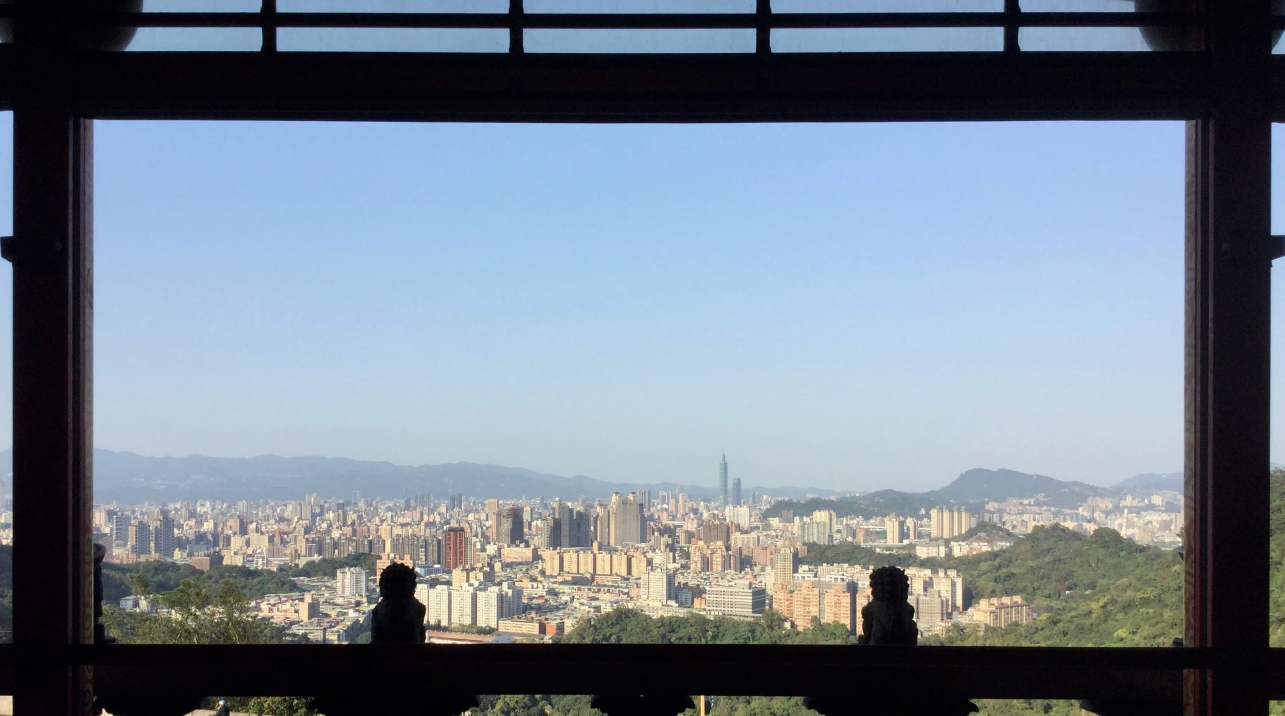 Taipei view from the Earth God Temple