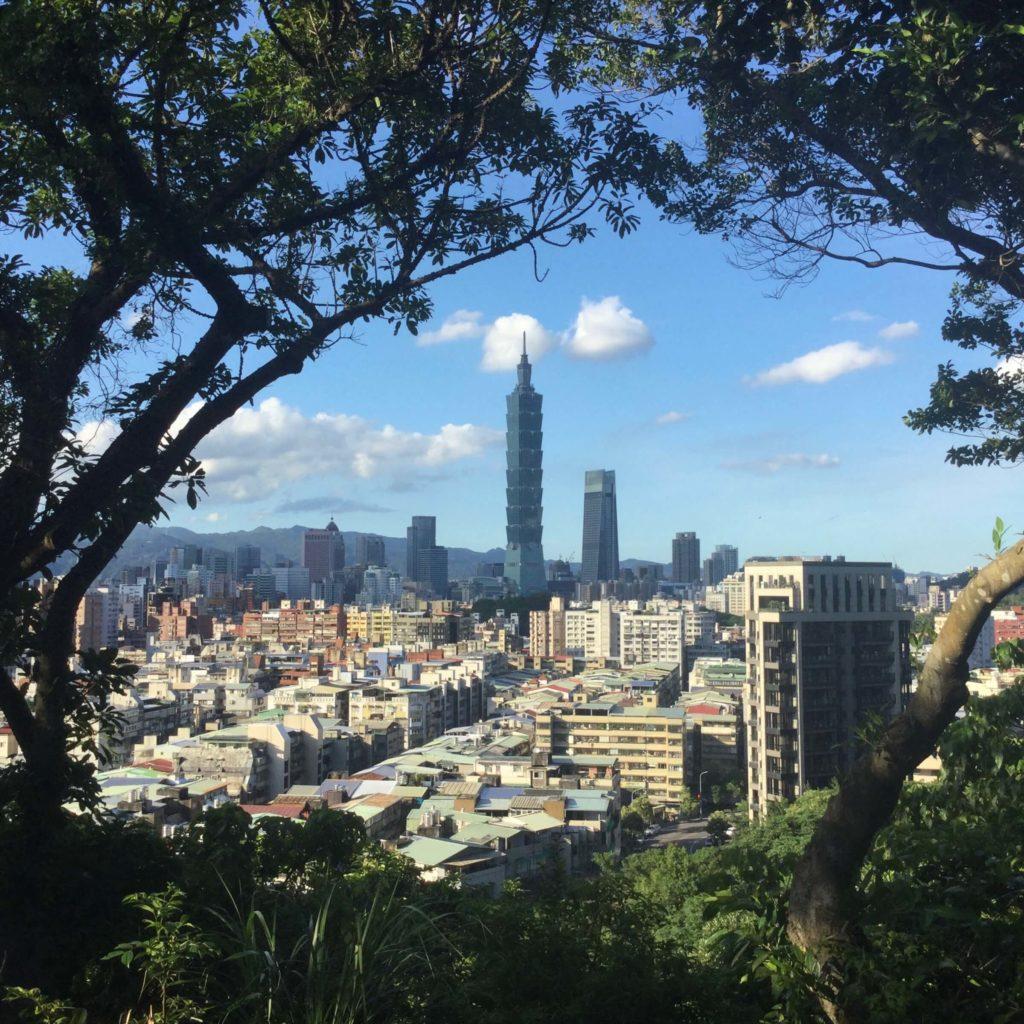 Taipei 101 view from Fuzhoushan