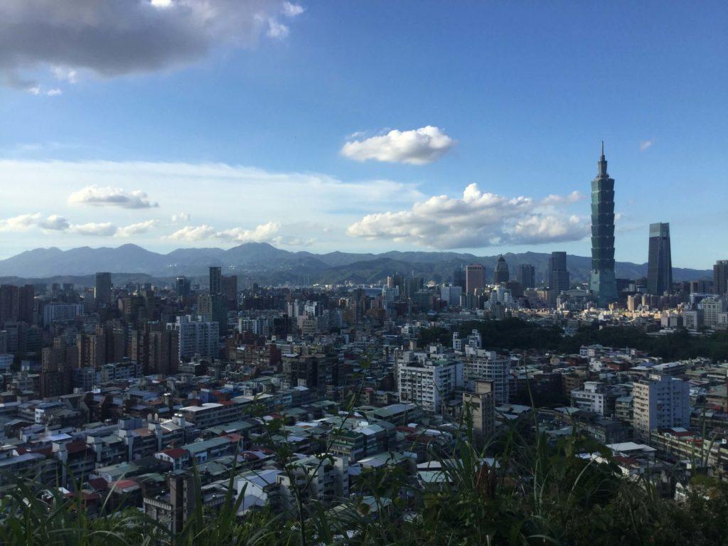 View of Taipei 101 from Fuzhoushan