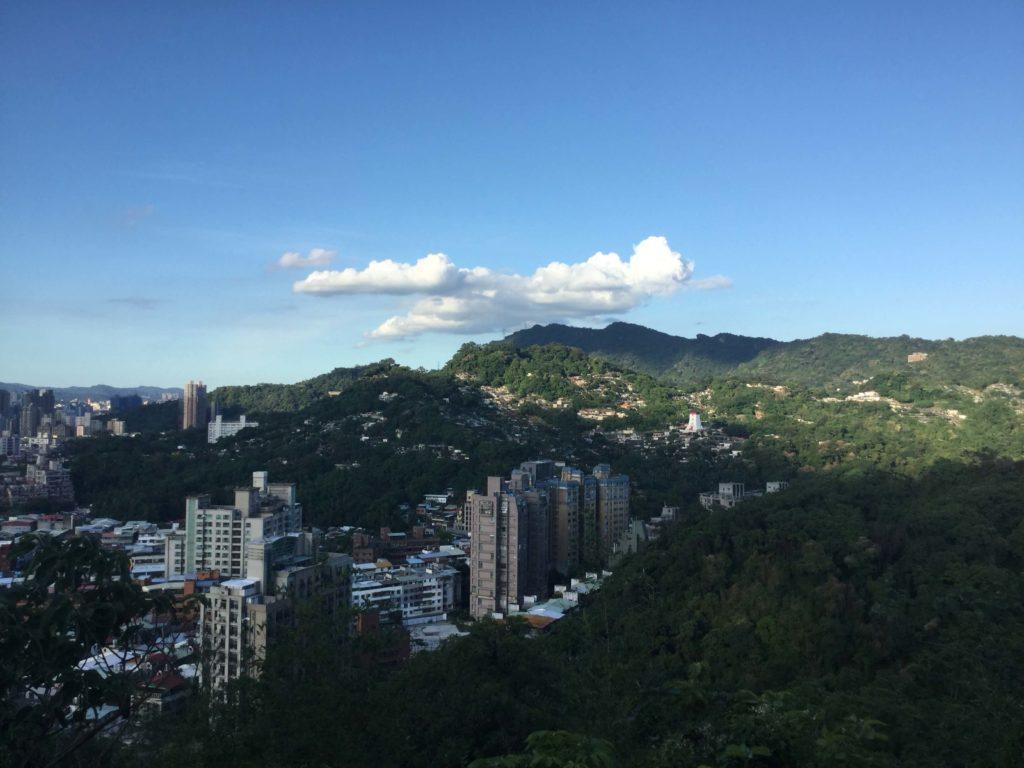 View of Elephant Mountain & Mt Nangang from Fuzhoushan