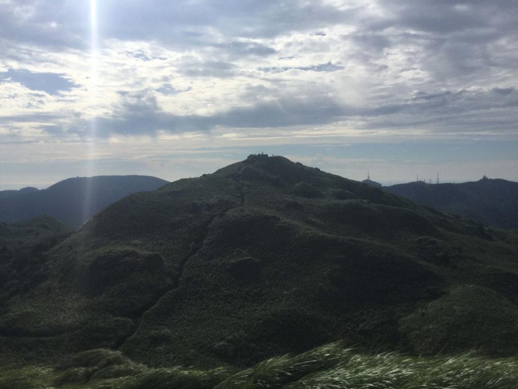 Qixingshan's main peak as seen from the east peak