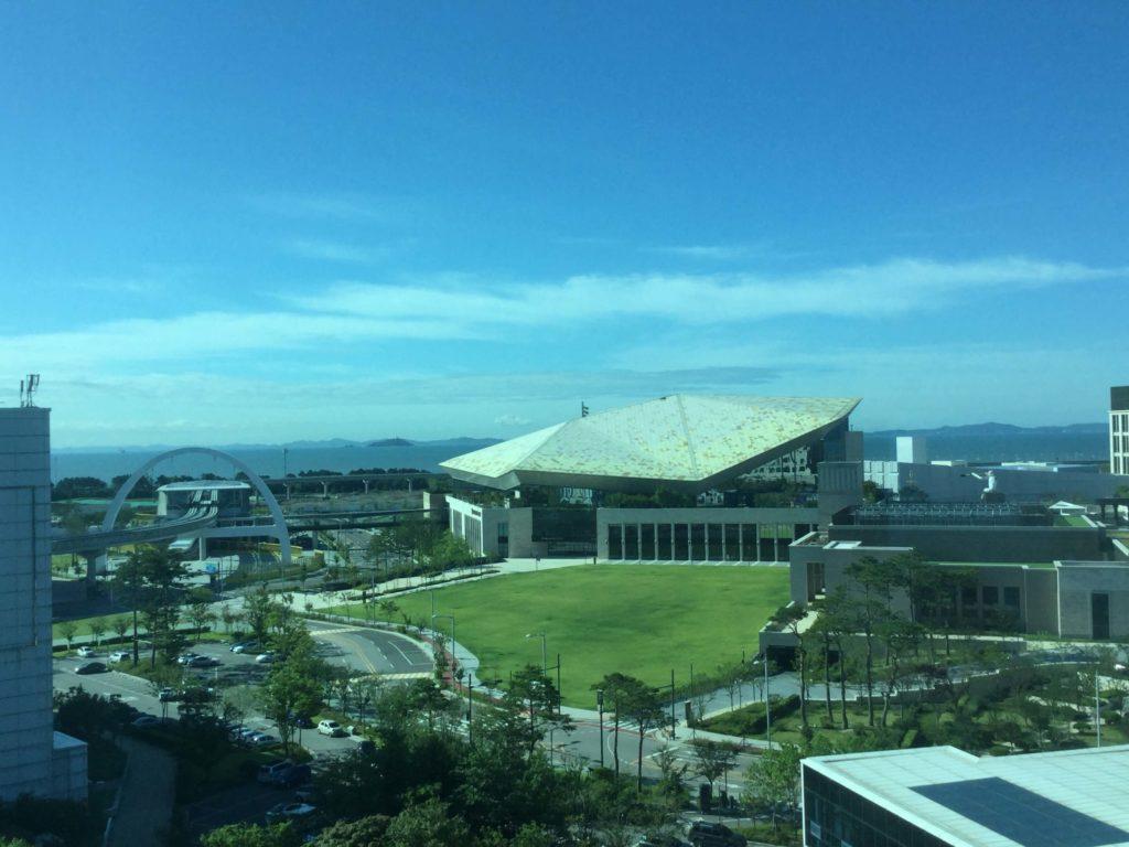 The view from my coronavirus quarantine room at Incheon airport